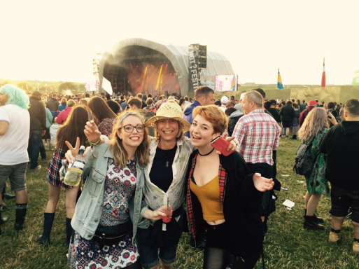 Me, my mum and sister Amy at a festival in Derbyshire