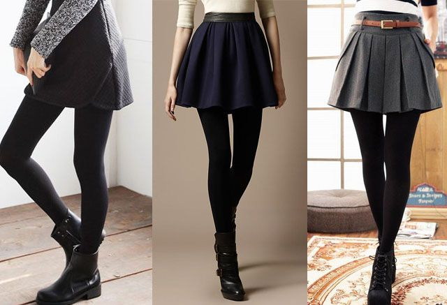 What type of leggings wear with skirts