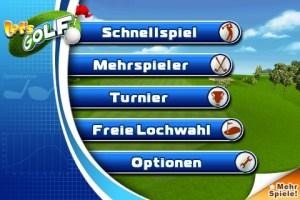 Screenshot: Let's Golf Menü