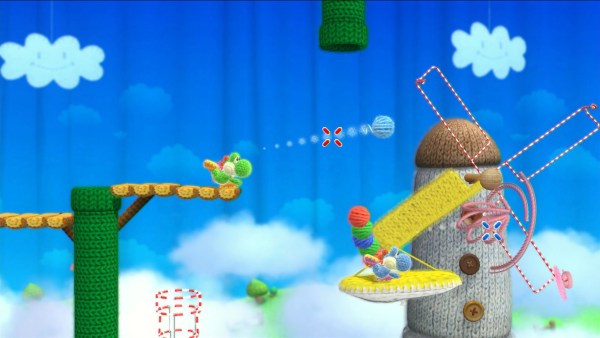 Screenshot Yoshi's Wooly World WiiU