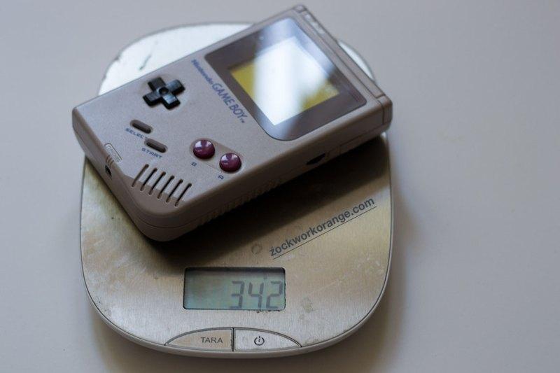 Gewicht von Nintendos grauem Game Boy