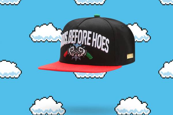 "Hands of Gold Super Mario Snapback ""Bros before Hoes"""