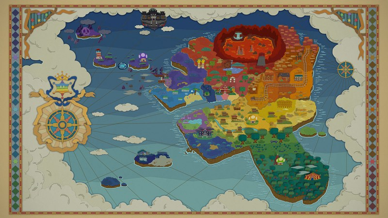 Paper Mario Color Splash: World Map
