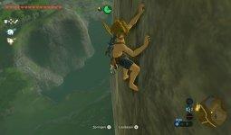 Legend of Zelda: Breath of the Wild - Link klettert