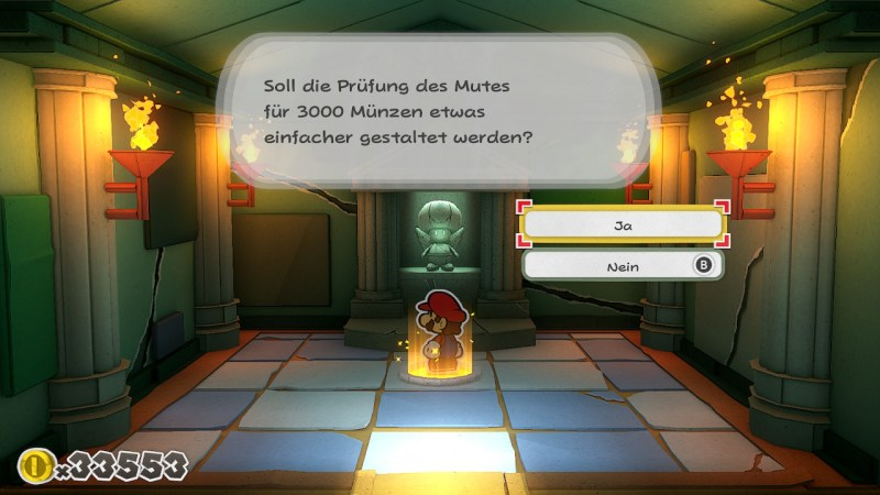 Paper Mario Origami King Screenshot: Prüfung