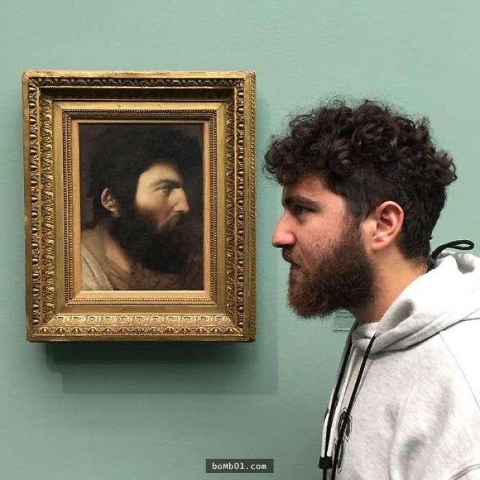 時空旅人27個「撞臉古典名畫裡的人」...看畫看到一半傻住:莫名有幽默感