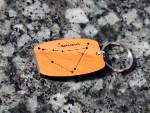 Capricorn Keychain