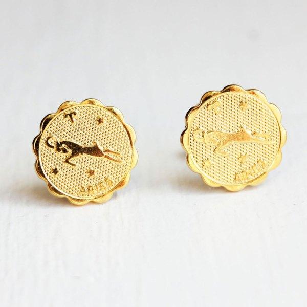 Aries Gold Stud Earrings