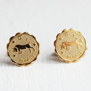 Taurus Gold Stud Earrings