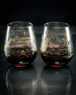 Northern Hemisphere Night Sky Stemless Wine Glass