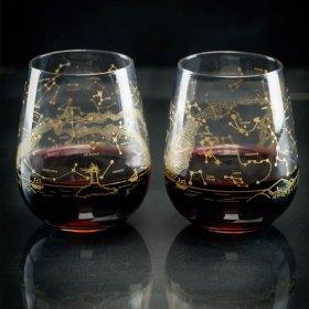 Northern Hemisphere Night Sky Stemless Wine Glass
