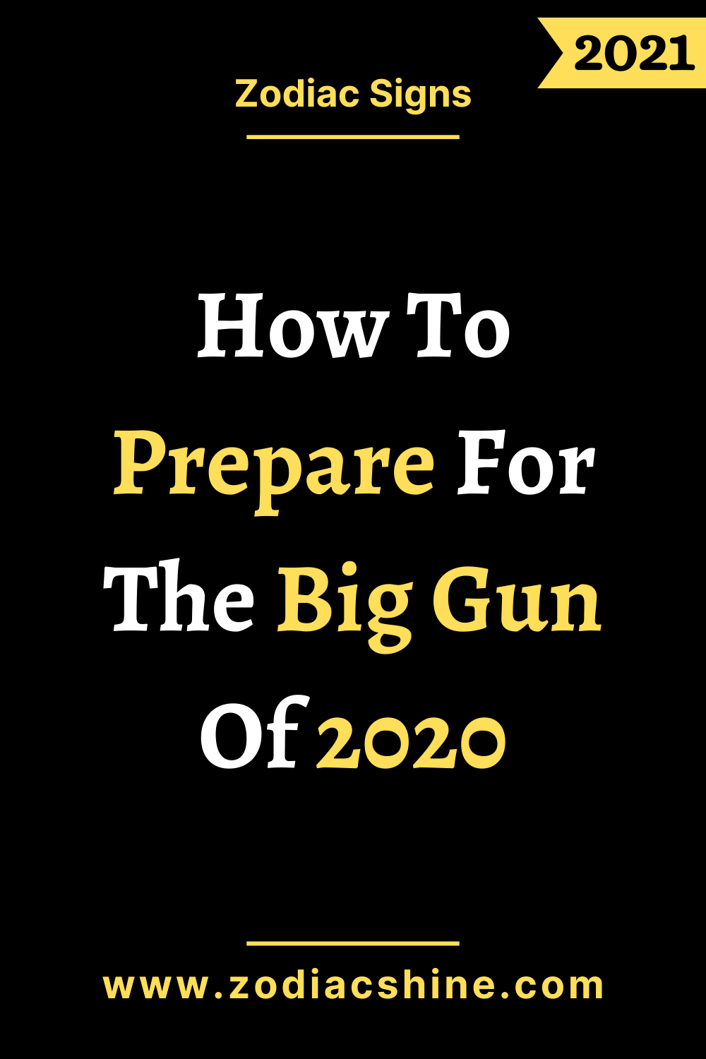 How To Prepare For The Big Gun Of 2020