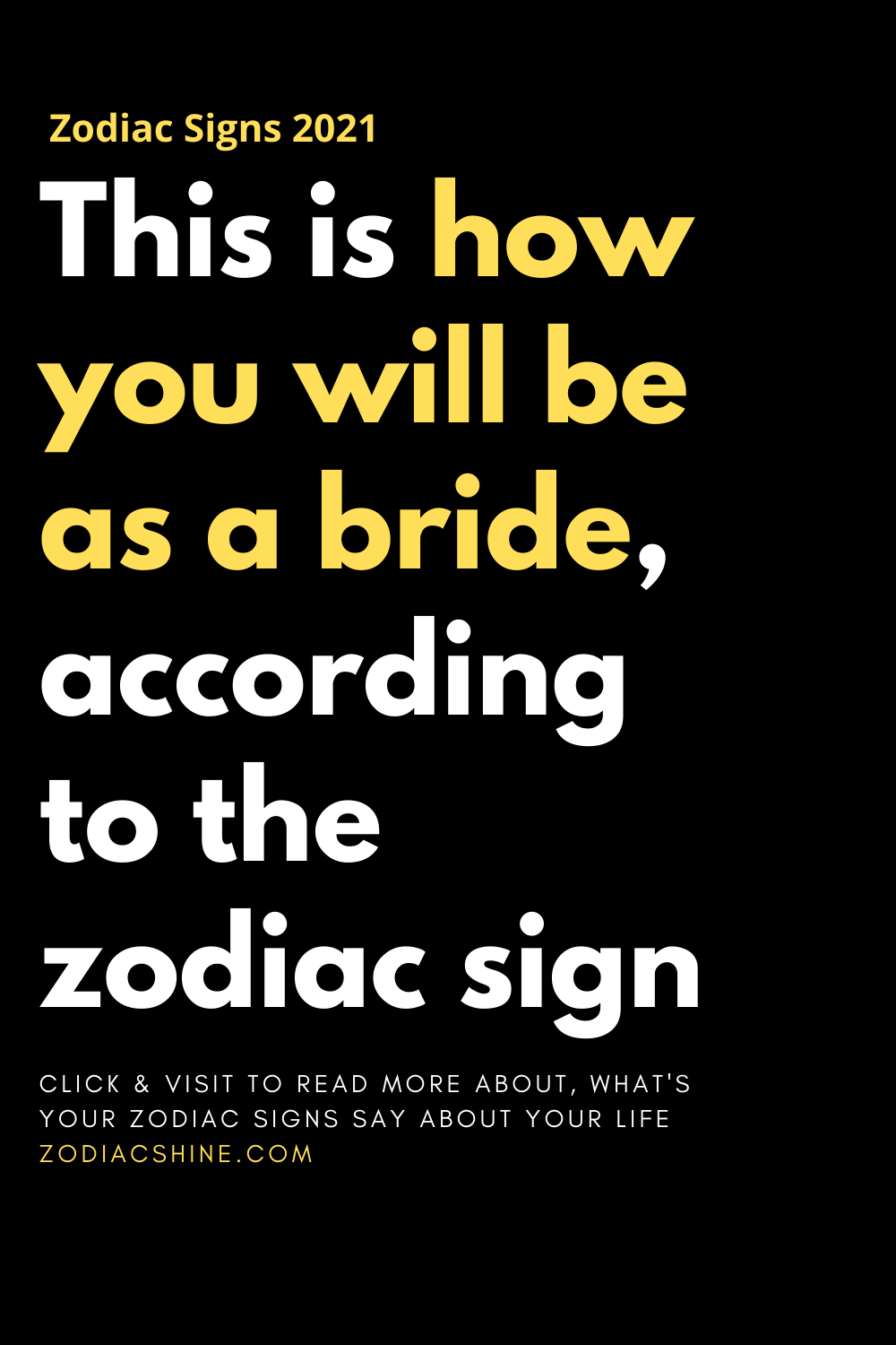 This is how you will be as a bride, according to the zodiac sign