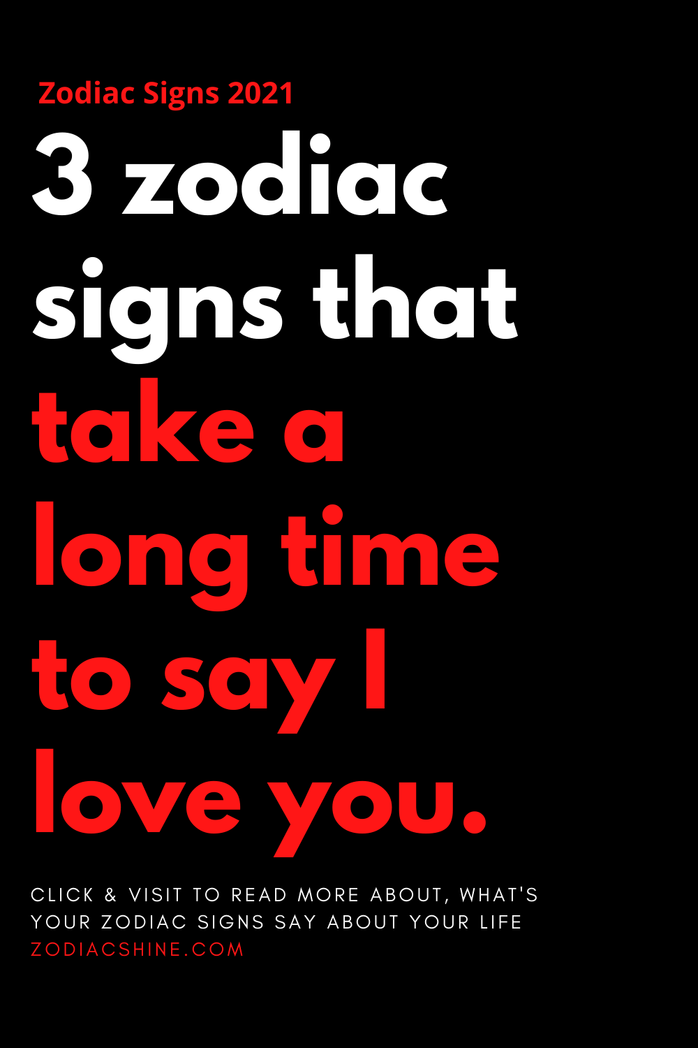 3 zodiac signs that take a long time to say I love you.