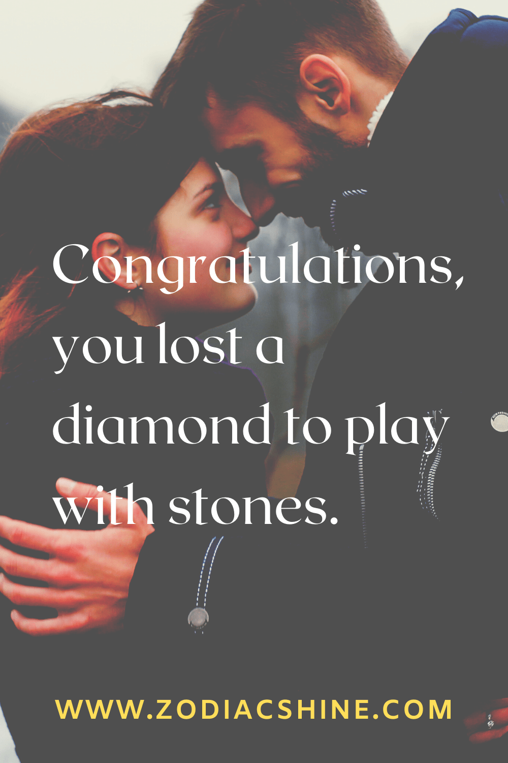 Congratulations, you lost a diamond to play with stones.