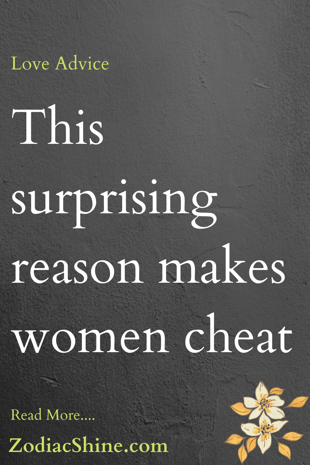 This surprising reason makes women cheat