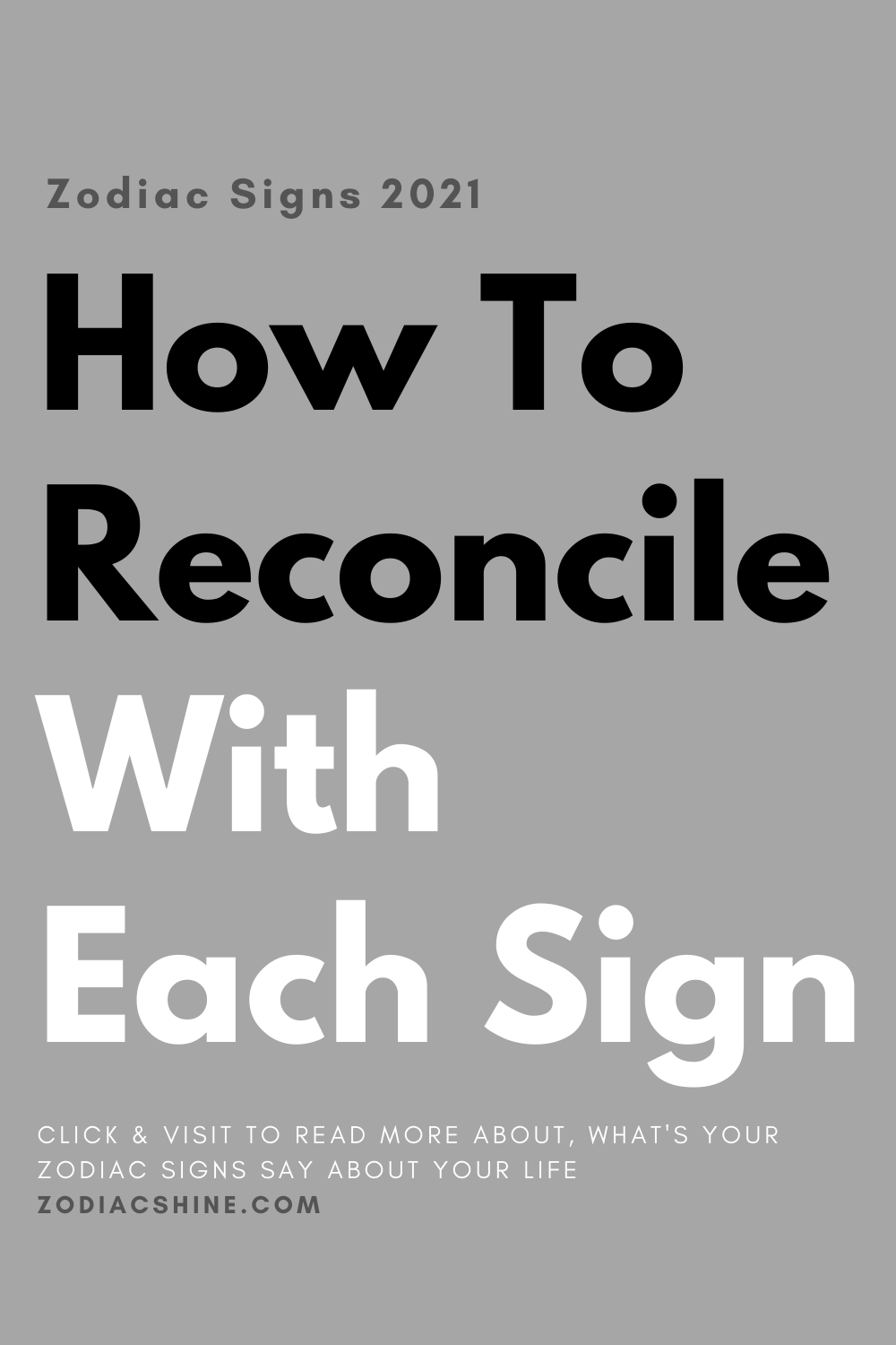 How To Reconcile With Each Sign