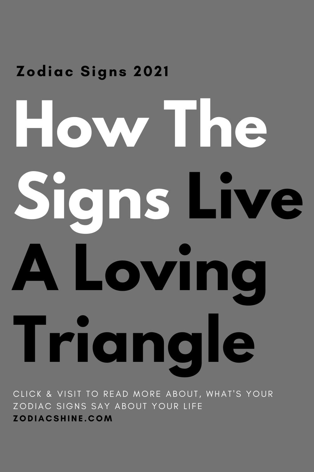 How The Signs Live A Loving Triangle