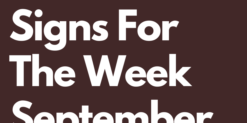The 3 Lucky Zodiac Signs For The Week September 21th To 26th