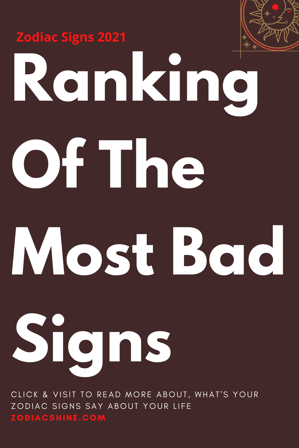 Ranking Of The Most Bad Signs