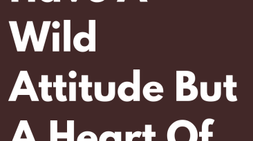 Signs That Have A Wild Attitude But A Heart Of Gold