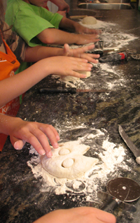 4 boys baking