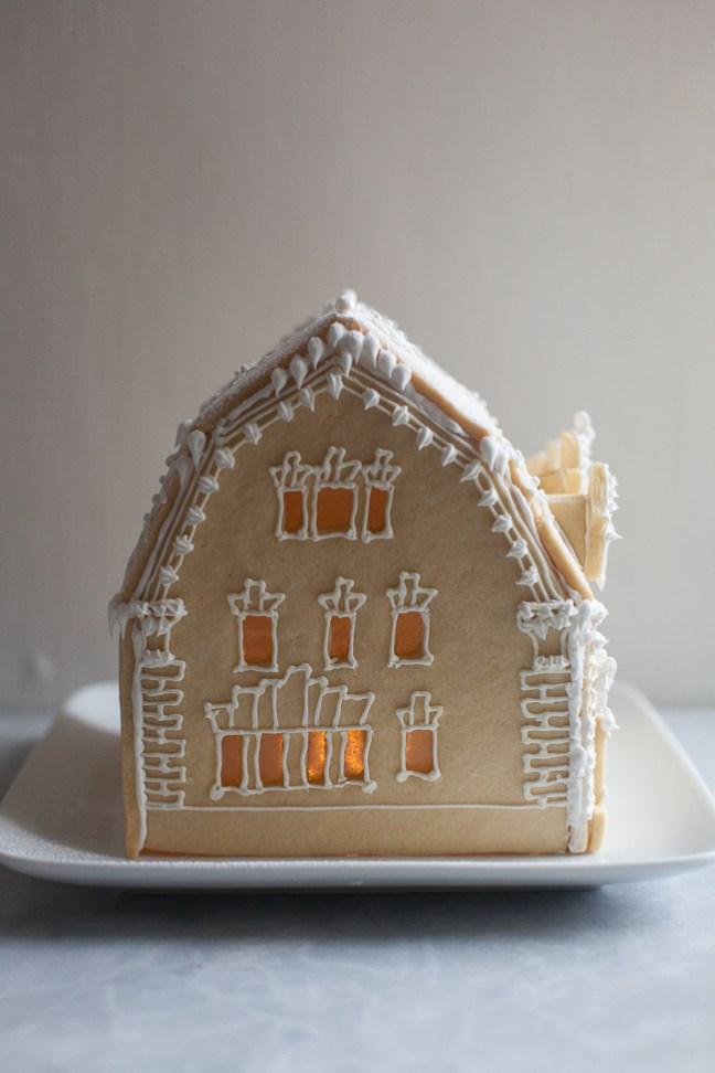Holiday Sugar Cookie House | ZoeBakes photo by Zoë François
