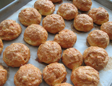 Gougères (snack food with the difficult name!) | ZoëBakes | Photo by Zoë François