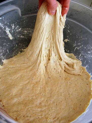 Pulling on Bread Dough   ZoëBakes   Photo by Zoë François