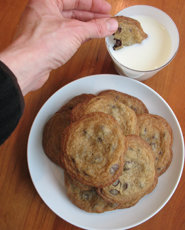 Plate of Toll House Cookies with Milk  | ZoëBakes | Photo by Zoë François