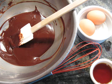 Stirring Melted Chocolate | ZoëBakes | Photo by Zoë François