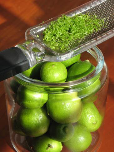 Zesting Key Limes | ZoëBakes | Photo by Zoë François
