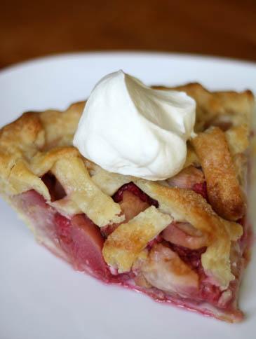 White Peach and Raspberry Pie | ZoëBakes | Photo by Zoë François