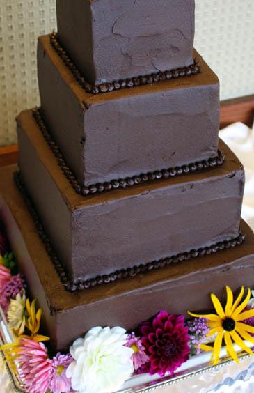 Chocolate Wedding Cake Recipe | ZoëBakes | Photo by Zoë François