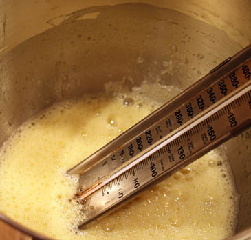 Heating and Whisking Eggs With Candy Thermometer | ZoëBakes | Photo by Zoë François