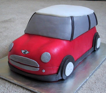 Mini Cooper Fondant Cake | ZoëBakes | Photo by Zoë François