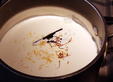 Warm cream with sugar, vanilla, orange and saffron   ZoëBakes   Photo by Zoë François
