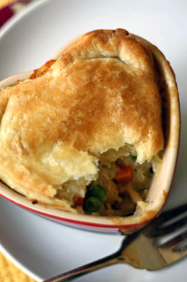 Chicken Pot Pie with Homemade Puff Pastry Recipe | ZoëBakes | Photo by Zoë François
