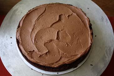 Chocolate cake topped with chocolate buttercream   ZoëBakes   Photo by Zoë François