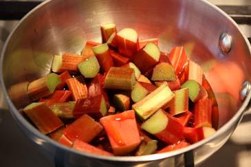 Cooking down rhubarb in pot   ZoëBakes   Photo by Zoë François