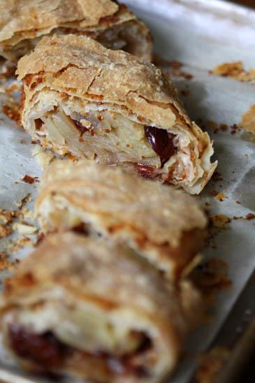 Apple cherry strudel recipe | ZoëBakes | Photo by Zoë François