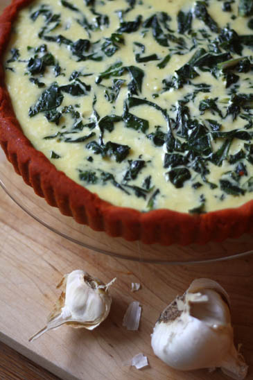 Garlic Kale Tamale Tart Recipe | ZoëBakes | Photo by Zoë François