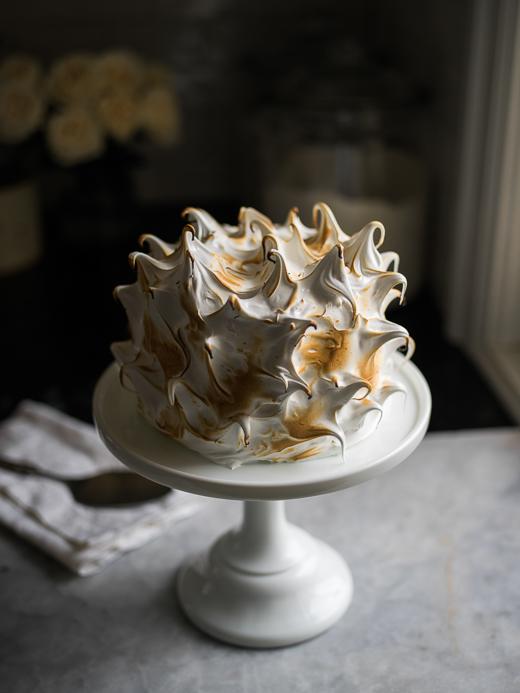Zoë François coconut cream cake with toasted meringue frosting
