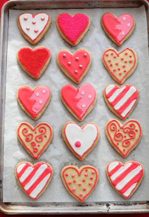 Valentine's Day Desserts - Heart-Shaped Cookies | ZoëBakes | Photo by Zoë François