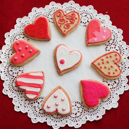 Valentine cookies | ZoëBakes | Photo by Zoë François