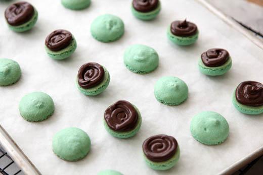 minty macarons recipe for St. Patrick's day | photo by Zoë François