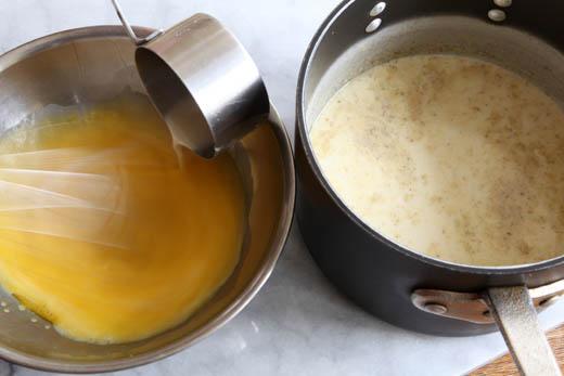 Making homemade ice cream