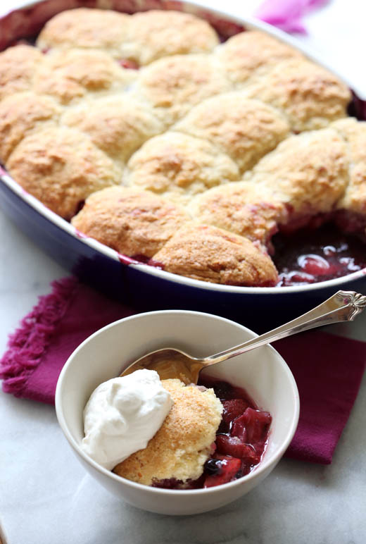 Berry Cobbler with Cheddar Biscuits