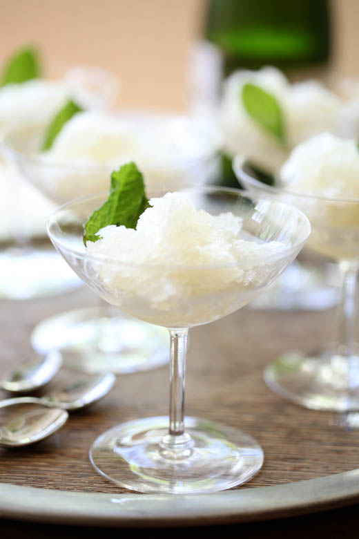 Lemon Champagne Mint Granita | ZoëBakes | Photo by Zoë François