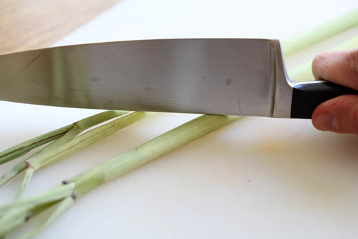 Bruising lemongrass | ZoëBakes | Photo by Zoë François